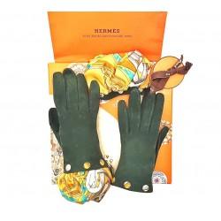 Hermes - Guanti in pelle scamosciata