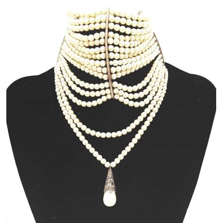 Christian Dior Couture Collana di perle in vetro