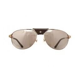 Cartier - Occhiale da Sole Unisex, Santos Dumont montatura Aviator