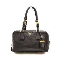 Prada - Textured Leather Satchel Bag