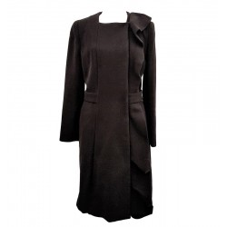Prada - Cappotto in lana nero