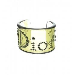 Christian Dior - Large bracelet in lucite, swarovski rhinestones, vintage