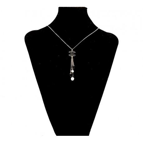 Chanel - Collana o girocollo CC con perle