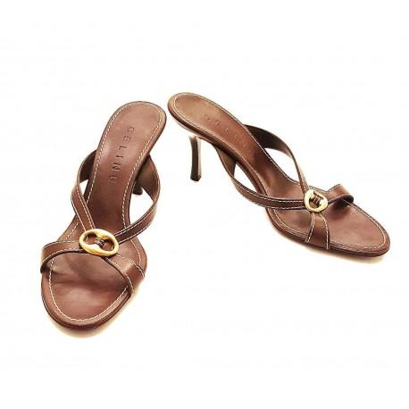 Celine – Sandalo in pelle marrone