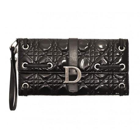 Christian Dior – Pochette in vernice nera