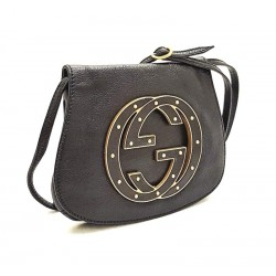 Gucci – Borsa collezione Blondie Vintage in pelle nera. Modello molto raro.