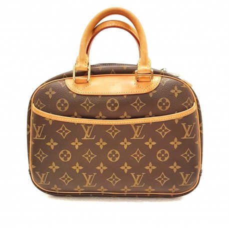 1974033a7375 Louis Vuitton Deauville bag in brown monogram canvas and natural leather