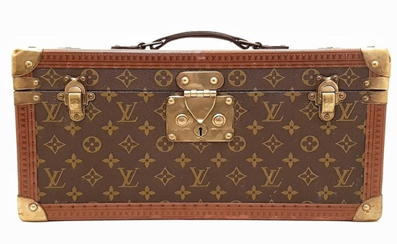 Louis Vuitton - Beauty Case Vintage con specchio